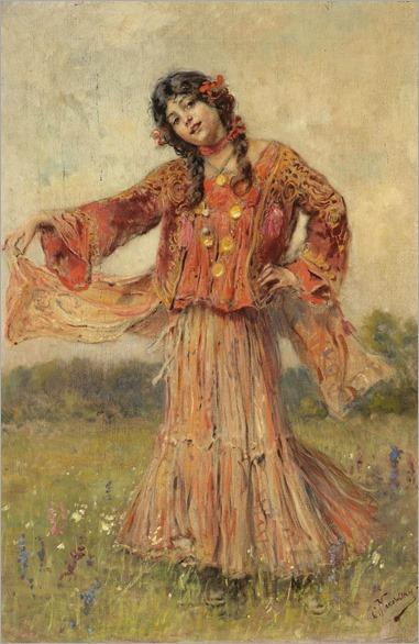 gypsy dancing-Konstantin Yegorovich Makovsky
