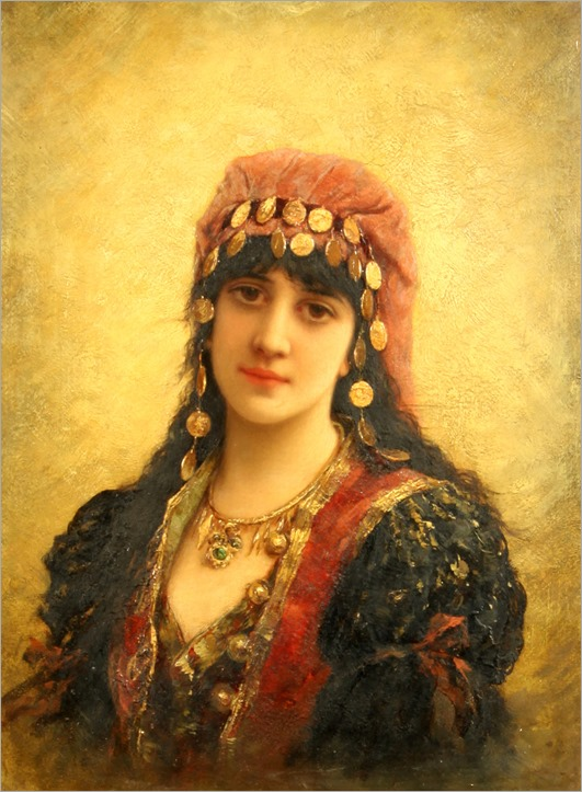 gypsy girl-EMILE EISMAN-SEMENOWSKY (POLISH-FRENCH 1857-1911)