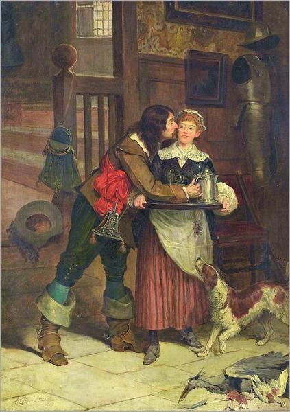 Henry Gillard Glindoni (1852-1913) - The Attack 1880