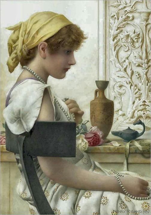 Henry Ryland (1856-1924) . Pearls