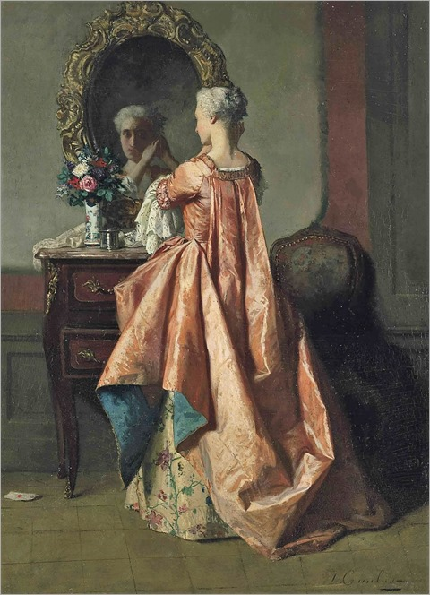 Jean Carolus - a lady at her dressing table - c.1868