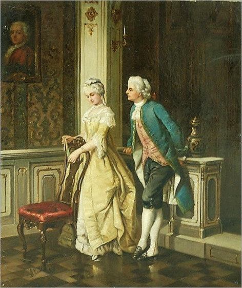 Jean Carolus (BELGIAN, 1814-1897)- couple