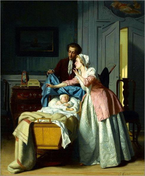Jean Carolus (Belgian, 1814-1897) - Hush