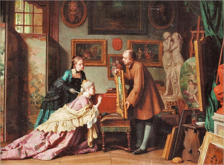 Jean_Carolus_A_Visit_to_the_Studio_1889