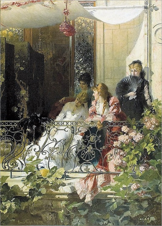 ladies with a balcony-conrad kiesel