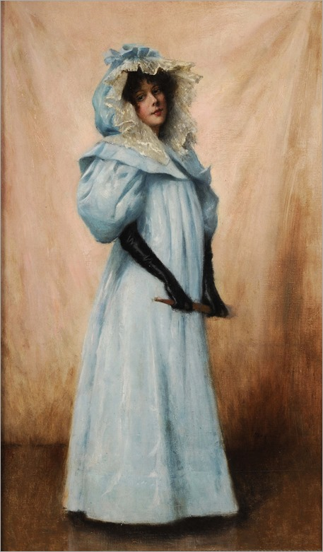 Maxime Dastugue (1851 - 1909) The Blue Dress