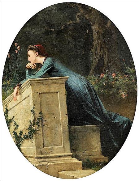 Odoardo Borrani, 1833 Pisa – 1905 Florenz SINNENDE JUNGE FRAU