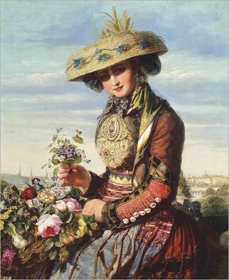 Paul de Longpré (1855-1911) — Flower Girl
