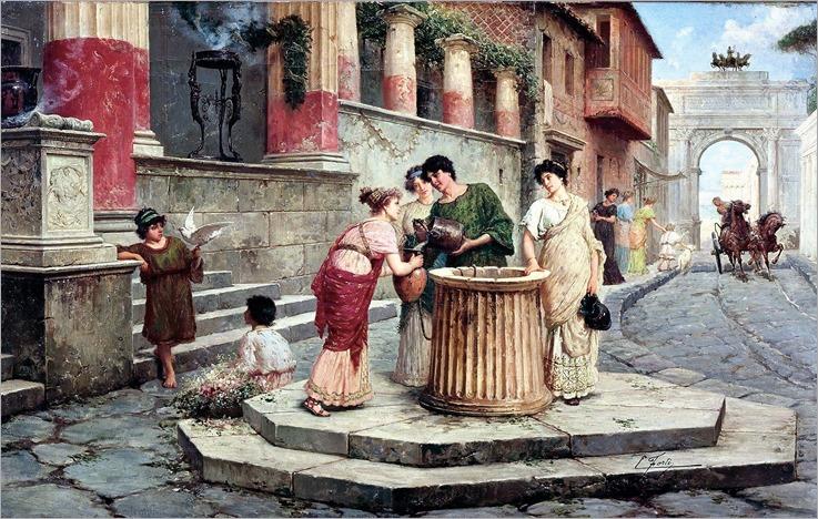 Pompeii street by, Edoardo Ettore Forti