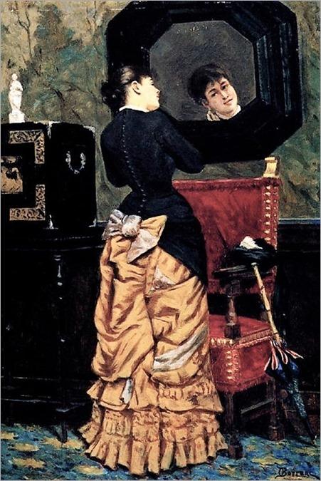portrait-of-a-lady-in-the-mirror-odoardo-borrani-italian-painter