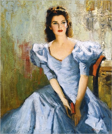 Portrait of Rosalind Russell. Nicolai Fechin (Russian-American, 1881-1955)