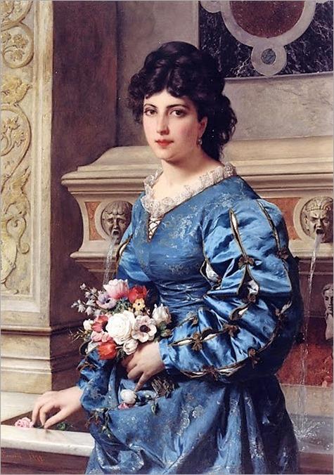 Raffaelle Giannetti (italian, 1832-1916)-le bouquet