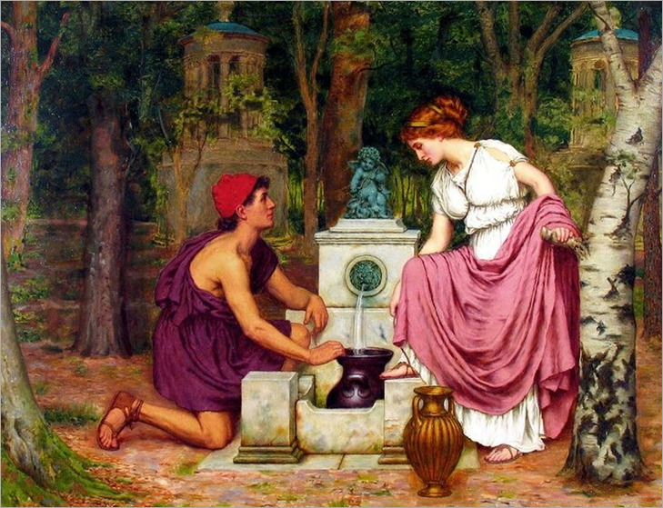 REGINALD ERNEST ARNOLD (1853-1938) - Meeting at the Well