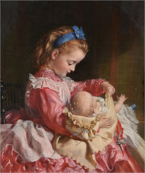 Sophie Anderson (1823-1903) Maternal instincts