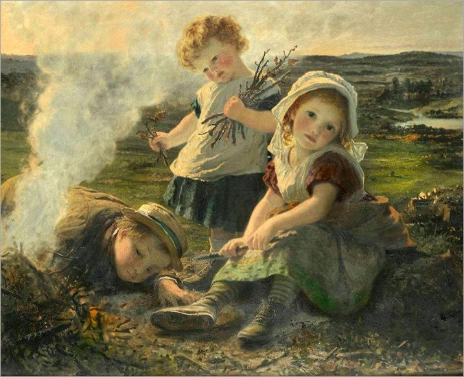 The bonfire- by -Sophie Anderson