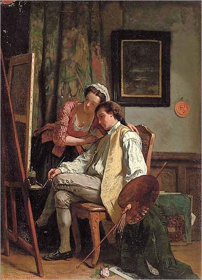 The finishing touches - Jean Carolus (belgian, 1814-1897)