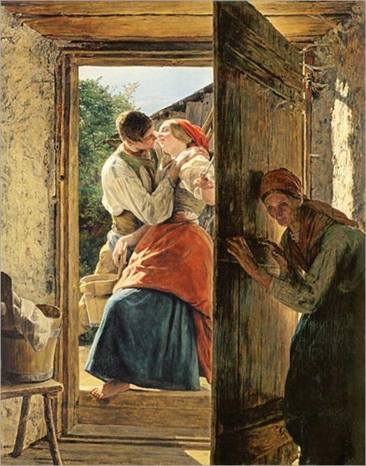 the kiss_Ferdinand Georg Waldmüller - 1858