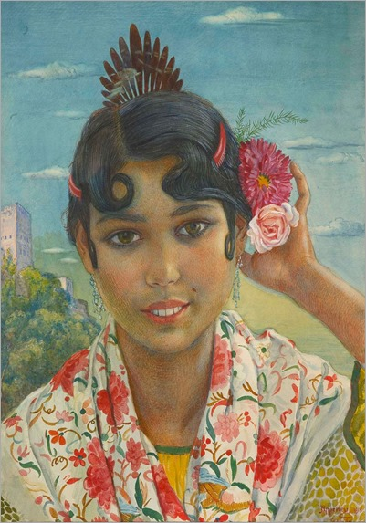 the little gipsy by JORGE O. W. APPERLEY (Wales 1884 - Tánger 1960)