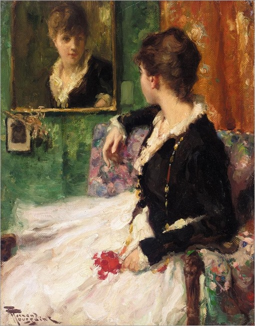 the looking glass-FERNAND TOUSSAINT (belgian 1873-1955)