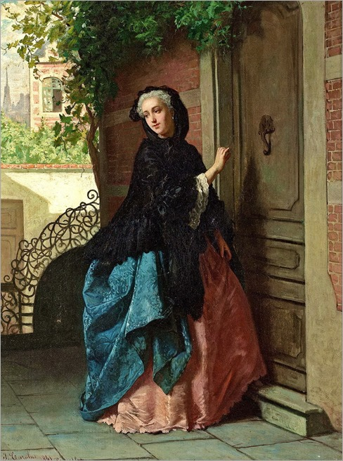 The visitor - Jean Carolus (belgian painter)