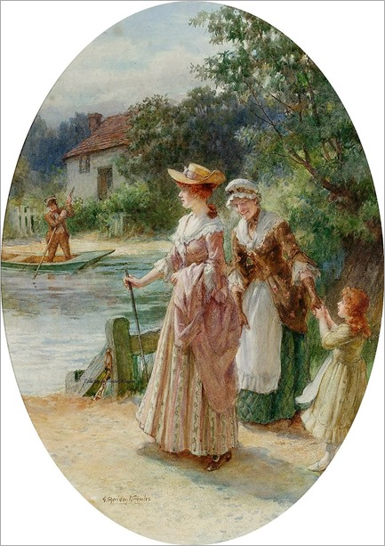 Waiting for the ferry -George Sheridan Knowles ( British, 1863-1931)