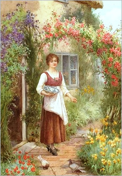 William Affleck - At The Cottage Door.