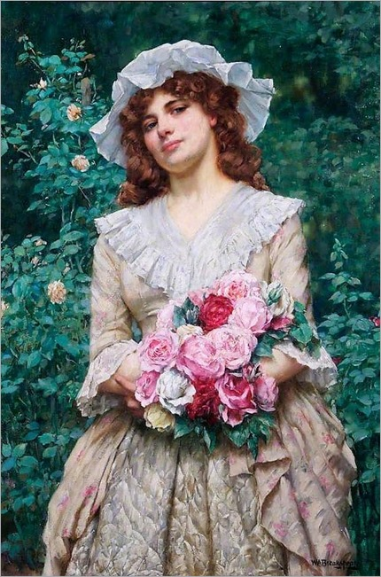 William Arthur Breakspeare (1855-1914) - Roses _ Croydon Museum, Croydon Art Collection, Croydon. United Kingdom