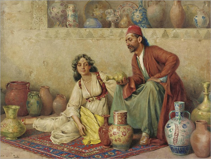 4.francesco ballesio-the pottery seller