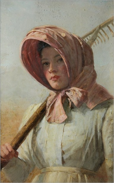 a-girl-with-a-rake-over-her-shoulder-by-british-school-1900