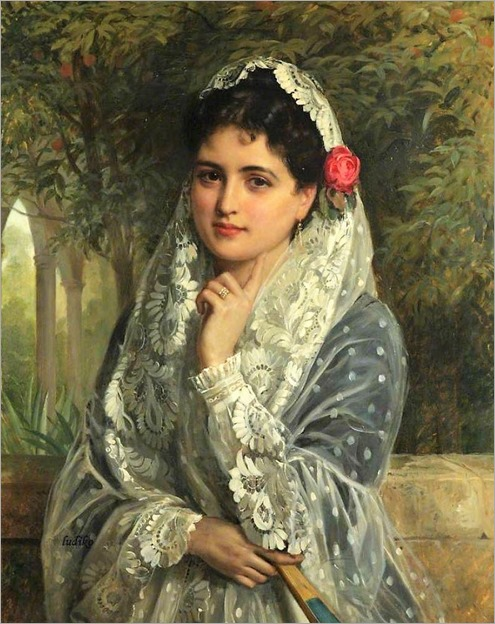 _A Spanish beauty in Seville-john bagnold burgessjpg