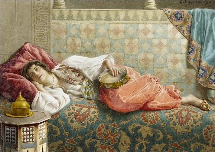 An Oriental Beauty at Rest_Francesco Ballesio