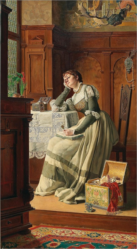 (At the start I almost wanted to despair, and I thought I'd never bear it…) (1885). Carl Probst (Austrian, 1854-1924)