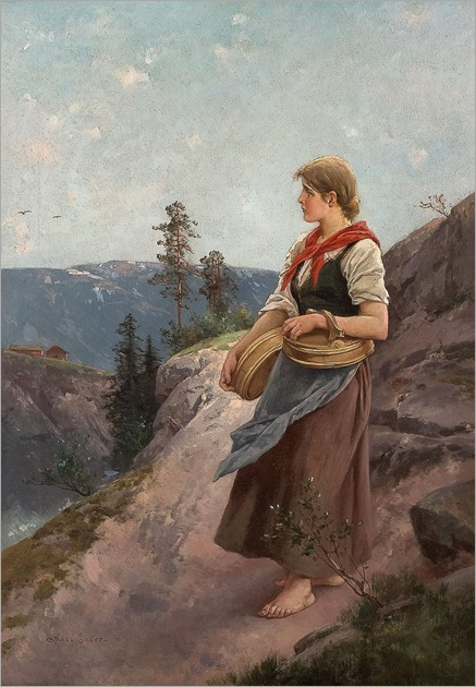 AXEL ENDER- Girl carrying wooden boxes