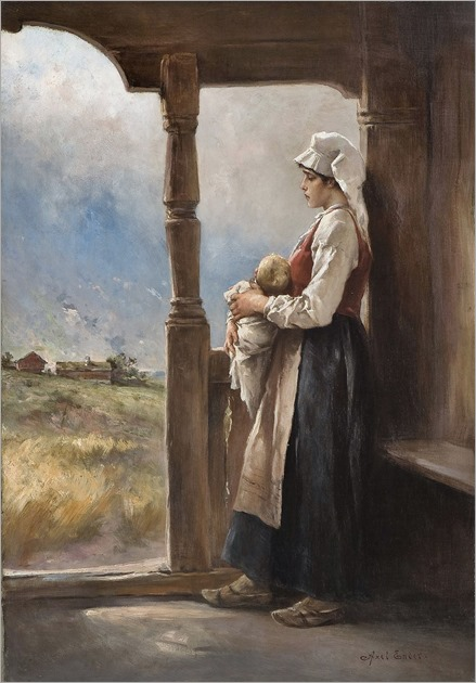 Axel Hjalmar Ender (1853-1920)- Mor og barn