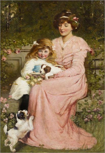Charles Frederick Lowcock (1878 - 1922) - Feeding Time