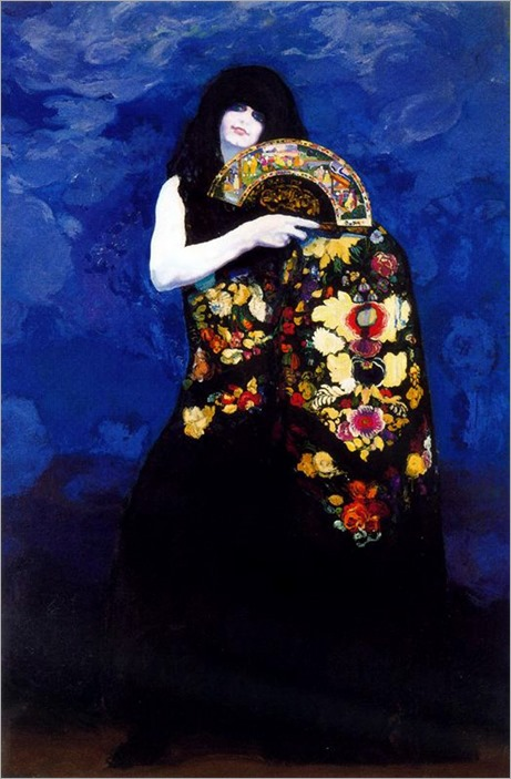 Chula with Green Eyes - 1913 - Hermenegildo Anglada Camarasa (spanish painter)