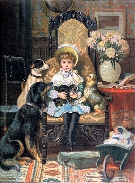 Doddy And Her Pets by Charles Trevor Garland (1855–1906, English)