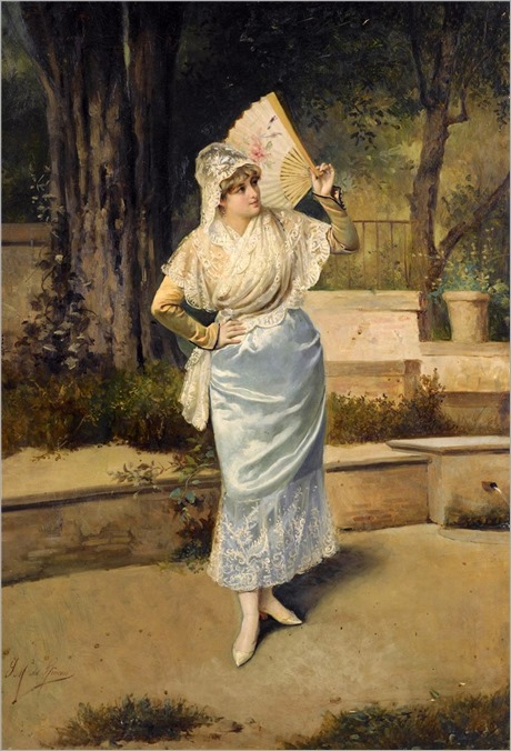 DOLORES BY SERAFIN MARTINEZ DEL RINCON Y TRIVES (SPANISH, 1840-1892)