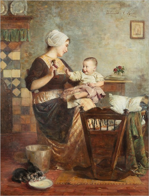 Edmund Adler (1876-1965) Mother and Child