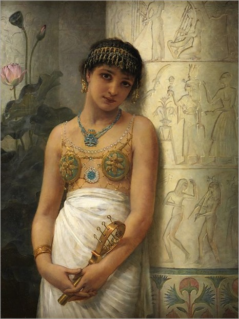 Edwin Longsden Long-an egyptian girl with a sistrum