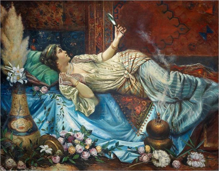 Francesco Ballesio (1860-1923) Reflection