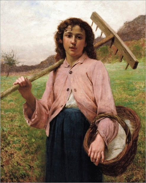 Francois Alfred Delobbe - Return From The Fields