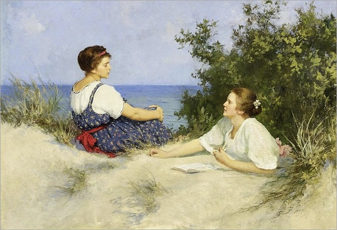 girls in the dunes-Hermann Seeger