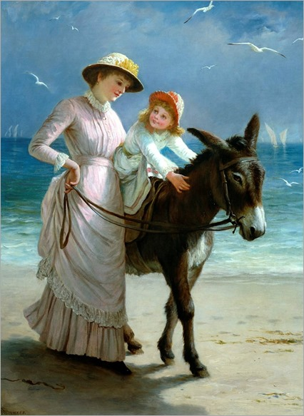 'The Donkey Ride' – little girl on a donkey