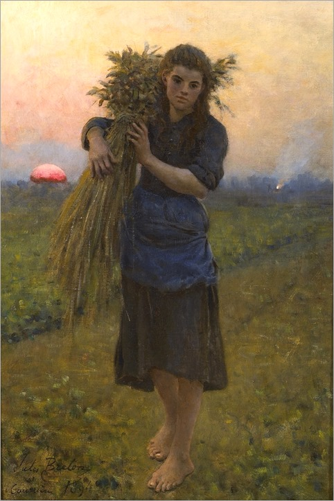 Jules Breton (french, 1827-1906)-Gleaner (glaneuse)
