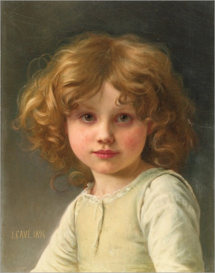 Jules-Cyrille Cavé_young girl with curly hair