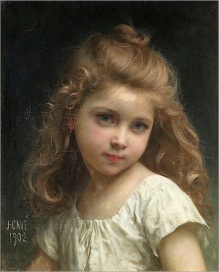 Jules Cyrille Cave-Portrait-of-a-Young-Girl