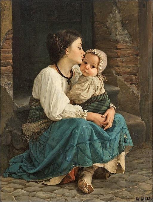la mamma e il bambino-1870-Cecrope Barilli