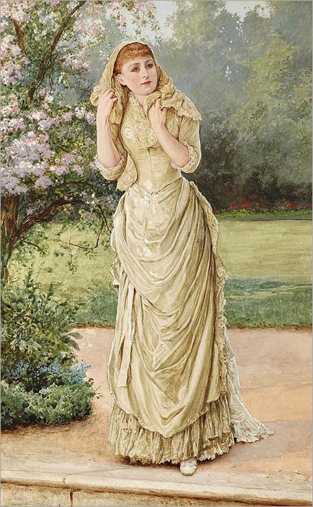 Lady-in-a-Garden-Edward-Killingworth-Johnson-Oil