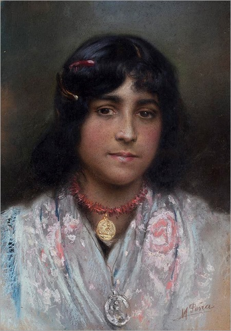 maximino pena munhoz-GIRL WITH CORAL NECKLACE